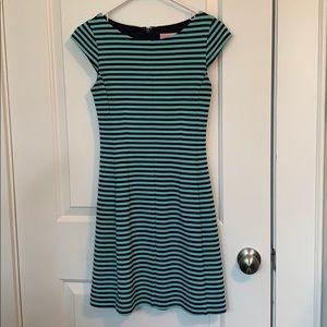 Green Navy Blue Striped Lily Pulitzer dress XS